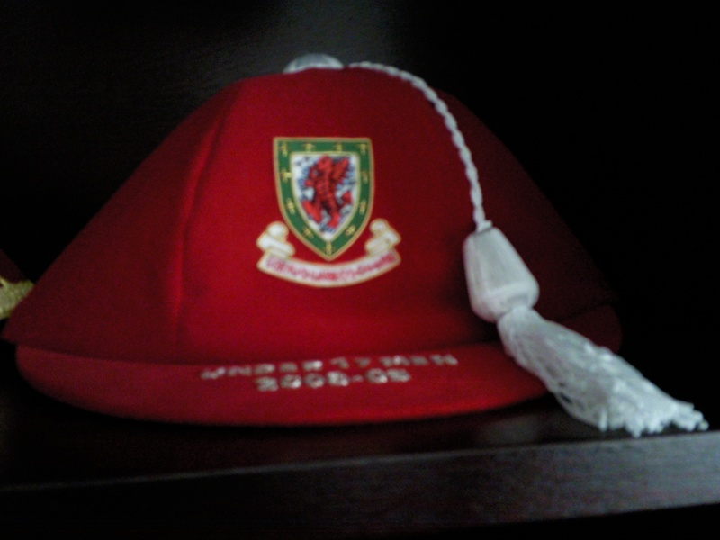 Lee Lucas' Welsh U17 Football Cap 2008-09